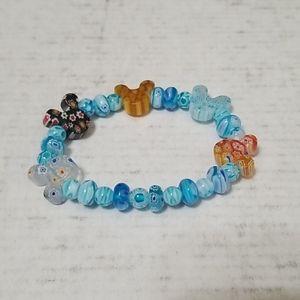 Disney stretchy cokorful Mickey mouse bracelet